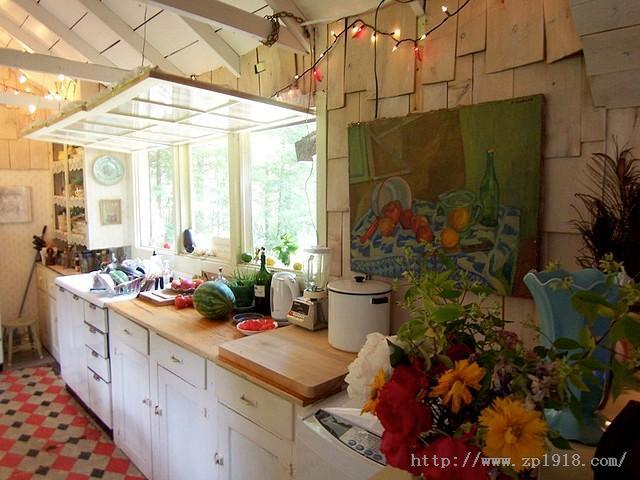 敞开式厨房客厅装修效果图大全欣赏   农村平房外观效果图,