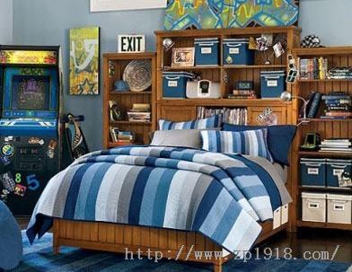 适合爱耍帅小男孩的儿童房装修效果 6平米儿童卧室装修 炫