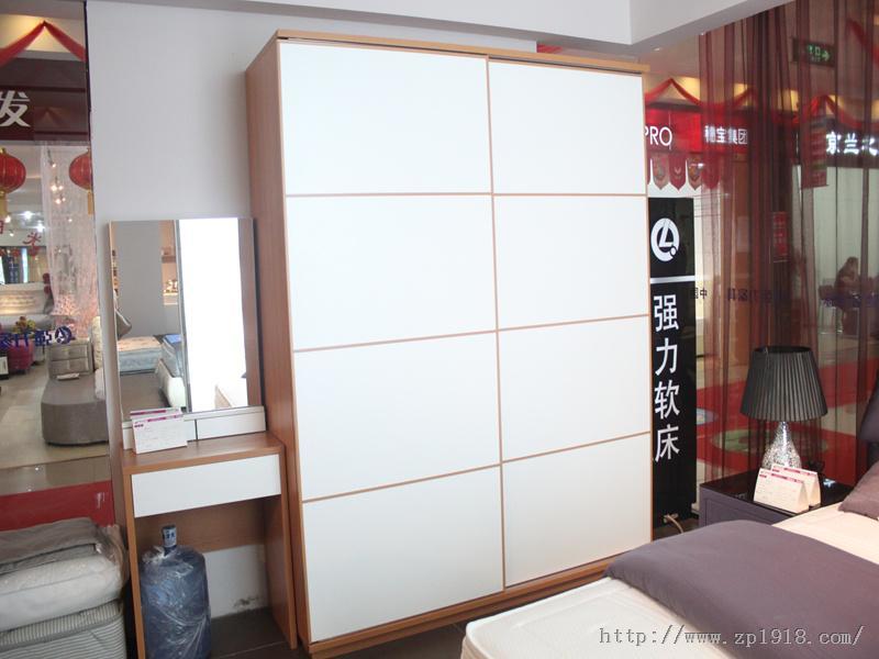 强力 b04推拉衣柜 衣柜图片 衣柜门效果图 众品家具网