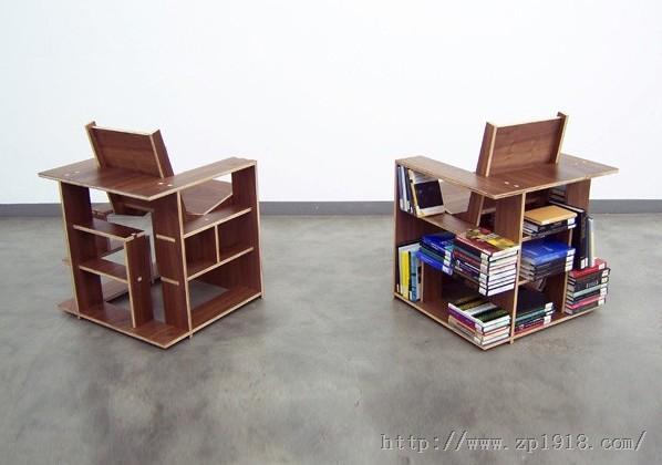 书架椅 迷你工作区 是时候让你的心情飞
