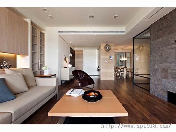 现代风格公寓 活动推拉门的巧妙利用