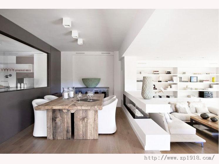 以海洋为设计元素的浪漫两居室