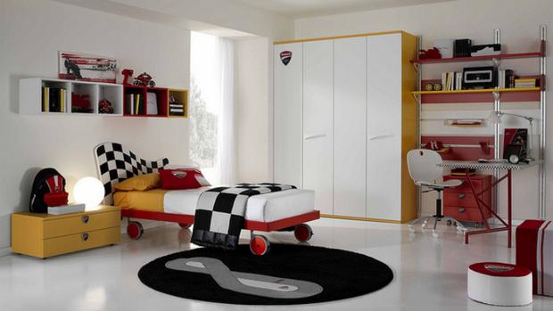 个性儿童房衣柜家装完美合一 男孩的运动天地