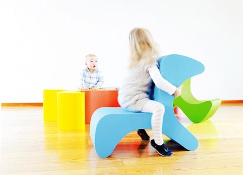 QQ糖放大版 来自德国设计师的儿童专用糖果椅