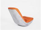 混凝土用在家具上,摇椅Swing有铁骨和柔情
