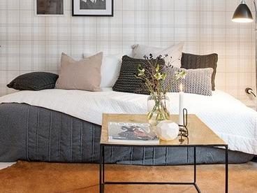 瑞典43平米格纹精品风公寓 永不退色的流行风