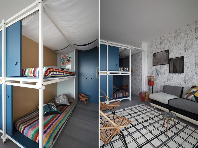 摩登杂志风巧布置 法国40平公寓设计